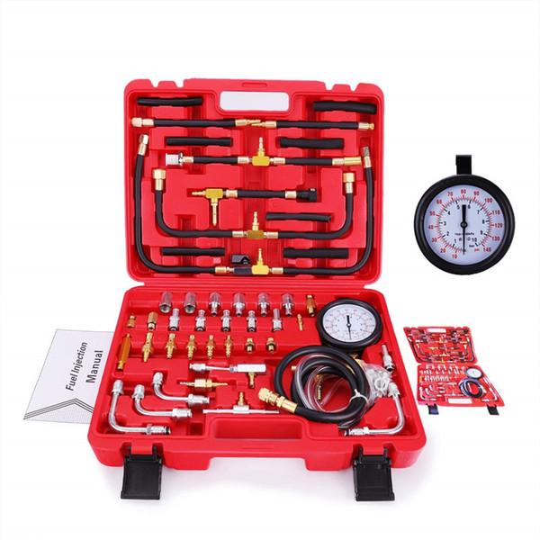 Auto Enigne Fuel System Oil Pressure Tester Gauge Car Diagnosis Analisi Kit di riparazione 0-140 PSI