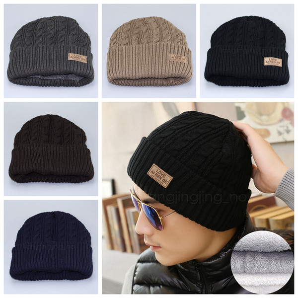 best selling 5styles Men Beaines Hats Knitted Hat Winter outdoor warmer Hats For Women Men Fashion Warm Thick Cap Male Beanie Hat Gifts FFA2896