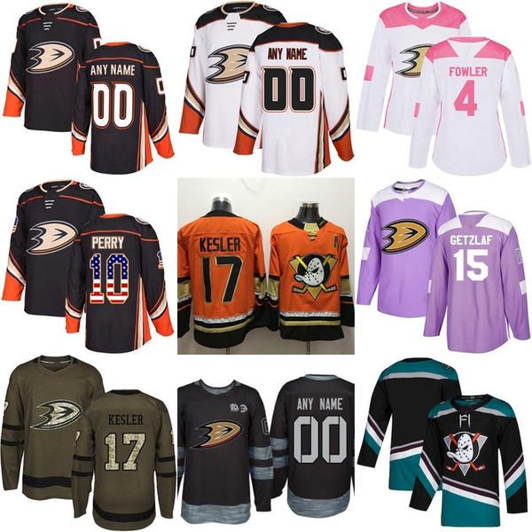 Mens Womens Дети двадцать пятый заказ Любой Имя Любой Количество Оранжевый Фиолетовый Флаг США Fights Cancer Практика Salute сотых Anaheim Ducks Хоккей Трикотажные изделия