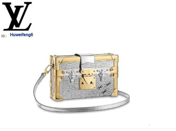 huweifeng6 M50018 PETITE MALLE Argent iconici Borse Donne Borse ICONICI MANICI BORSE A SPALLA TOTES CROSS BODY BAG pochette da sera