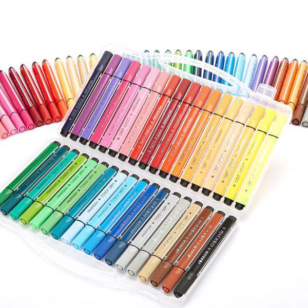 24/36 Colors Washable Watercolor Pen Children Painting Pens Marker Painting Children Art Supplies School Supplies