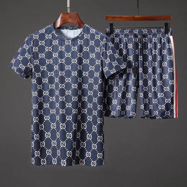 Desgaste do desenhador dos homens desgaste atlético designer de manga curta terno calções casuais impressos de algodão puro atlético de manga curta m-3xl
