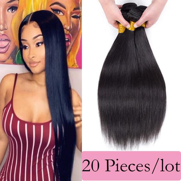 best selling Unprocessed Brazilian Human Hair 20 Bundles Raw Virgin Indian Hair Straight Body Water Deep Wave Hair Extensions Wholesale Price Kinky Curly