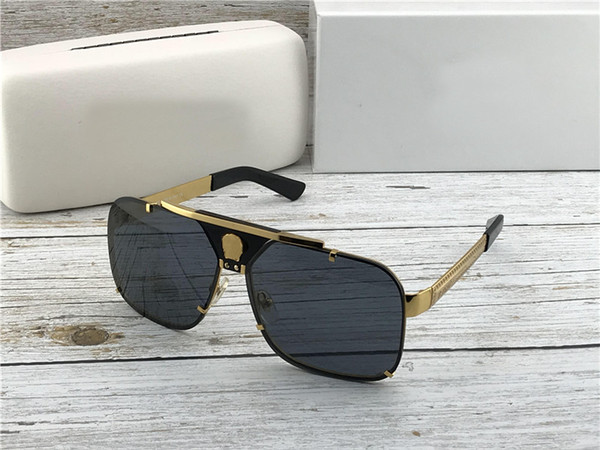 top popular 2133 Latest Sunglasses Classic Vintage Fashion Metal Sunglasses Leather Legs Designer The Best Quality Ladies Men's Sunglasses 2019