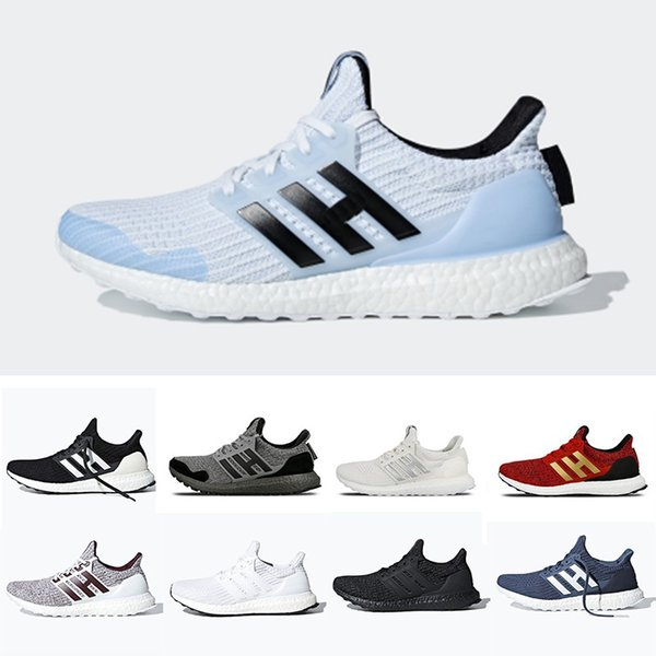 Adidas Ultra boost 4.0 Ultraboost mens Running shoes Orca White Burgundy Primeknit sports trainers men women sneakers 36-45