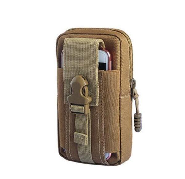 Mini camping en plein air Sacs chaud imperméable en nylon 800D militaire tactique Molle Sac pochette taille 5,5 pouces Téléphone mobile