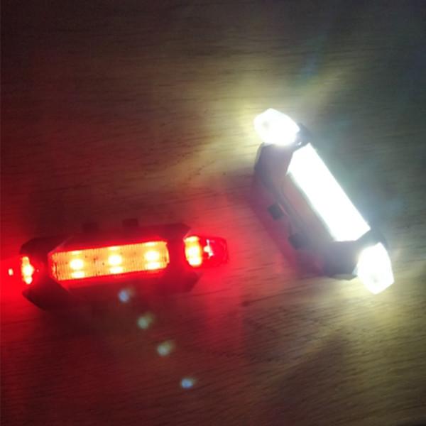 Zacro 3 Cores Portátil USB Recarregável Cauda de Bicicleta Cauda Traseira Luz de Aviso de Segurança Lanterna Traseira Ciclismo Lâmpada Traseira Super Brilhante
