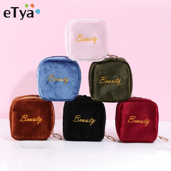 eTya Fashion Small Cosmetic Bag Women Girls Makeup Bag Pouch Cute Mini Travel Organizer Lipstick Case Portable Toiletry