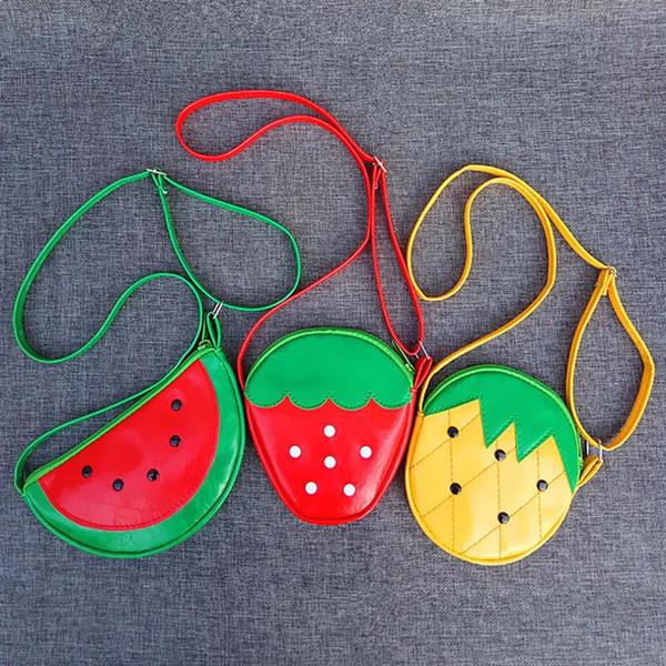 Mignon Fruits Forme Mini Sac À Bandoulière Pour Filles Enfants Enfants Porte-Monnaie Douce Pastèque Ananas Sac À Main
