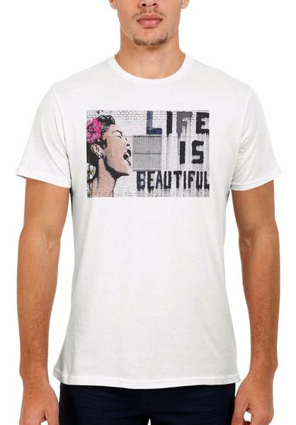 Das Leben ist schön Banksy Männer Frauen Weste Tank Top Unisex T Shirt 1515
