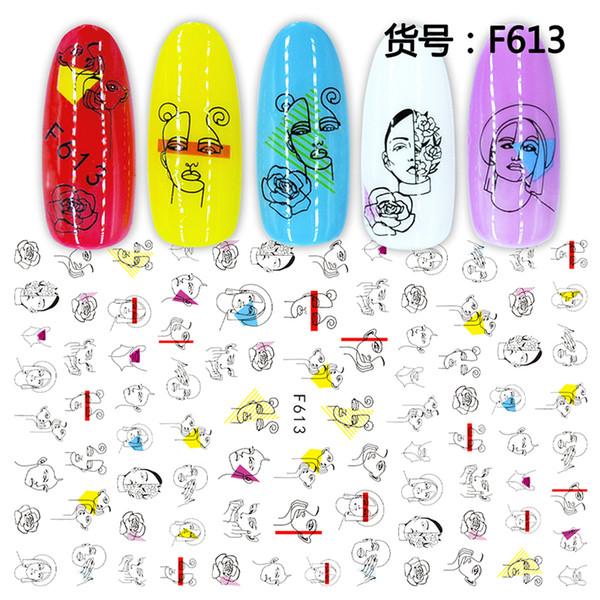 1PC Самоклеящаяся Наклейка Цветок / Flamingo / Лаванда / Кленовый лист и больше конструирует наклейки для татуировки ногтя, 7,6 * 12.2CM