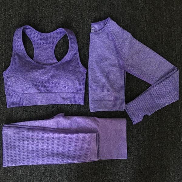 Set 3pcs púrpura