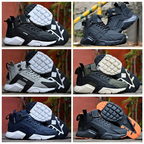 2019 New Air Huarache 6 X Acronym City MID Leather High Top Huaraches Mens Trainers Running Shoes Men Huraches Sneakers Hurache Size 40-45