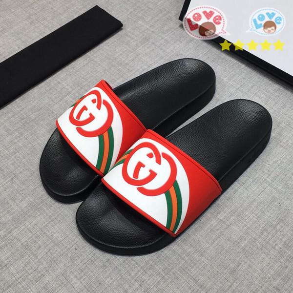 2018 uomini di lusso sandali donne sandali piatto pantofola per il tempo libero di alta qualità fiore box129