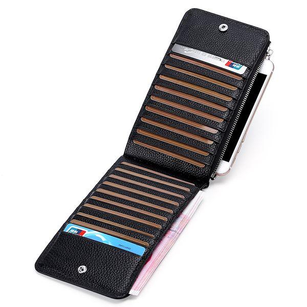 132ea1973 Monedero de las mujeres RFID paquete de tarjeta anti-magnética conjuntos de  tarjetas de cuero
