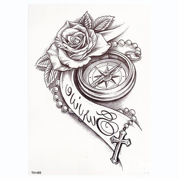 Acheter Rose Horloge Body Art Étanche Tatoo Temporaire Sexy Cuisse Bras  Tatouages Rose Pour Femme Flash Autocollants De Tatouage De $34.45 Du