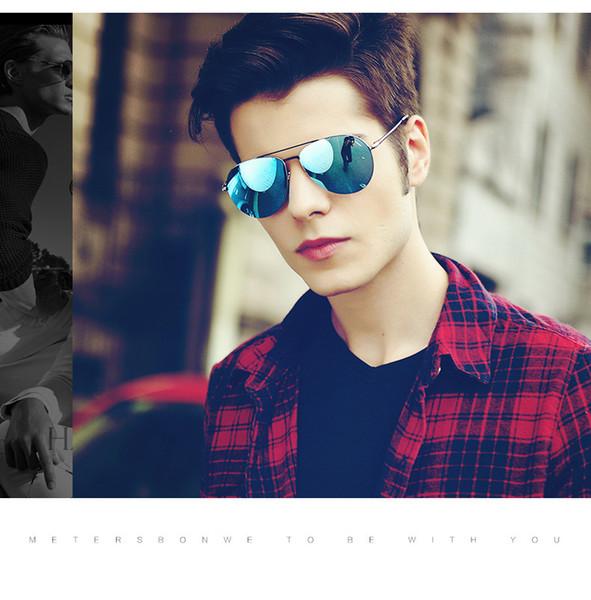 Nuevas gafas de sol de viaje de moda para hombres, mujeres, de primera calidad, gafas de conducción, gafas de sol de marca, 9 colores UV 400 con caja negra