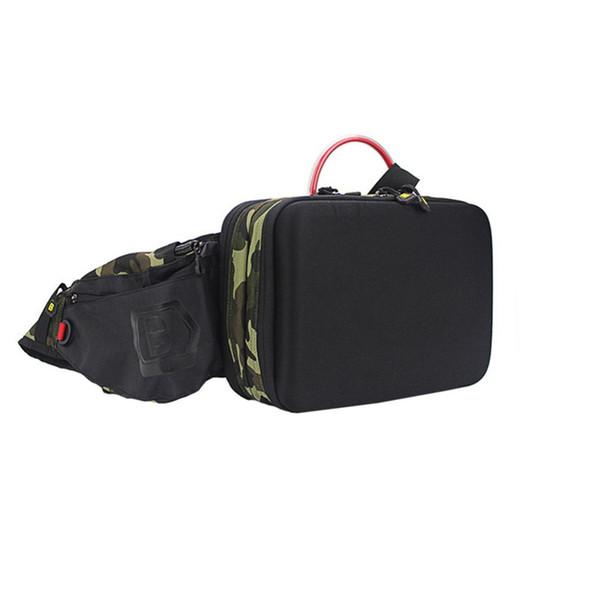 Fishing Waist Tackle Bag Waterproof Waist Shoulder Pack Case Reel Lure Line Hook Connector Fishing Tackle Fanny Bag Pack #973152