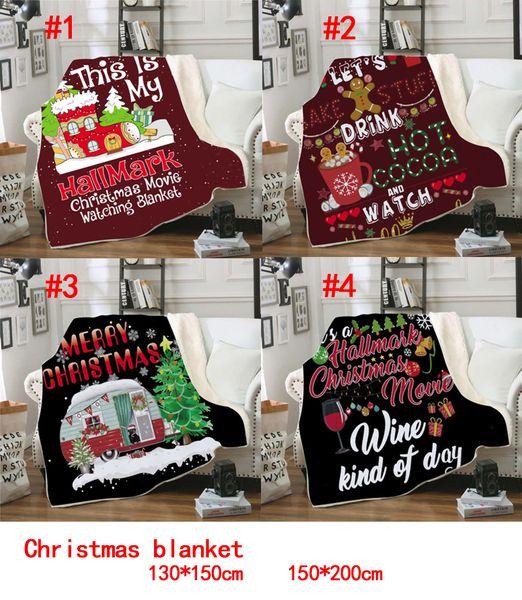 best selling 3D Printing Christmas Blanket For Kids Thick Sherpa Fleece blankets Soft Warm Children Cloak Cape Shawl sofa throw blanket 130*150cm
