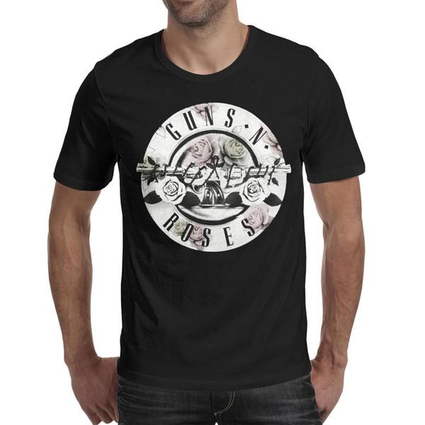 Guns N 'Roses Floral Fill Bullet 2019 magliette da uomo pazzesche in cotone con stampa estiva T Shirt For Men
