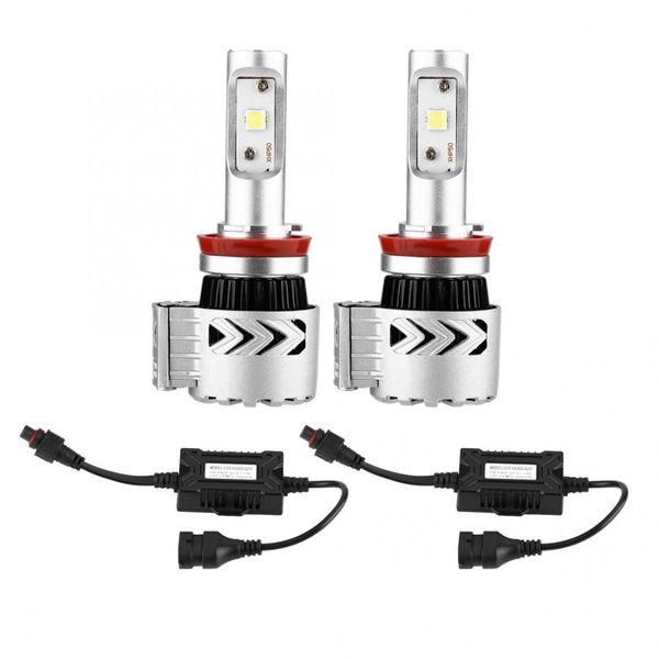 H4 led 2 Adet 3600LM 6000 K Yüksek Güç Süper Parlak Farlar BULB Kiti Far Ampuller oto için led lamba