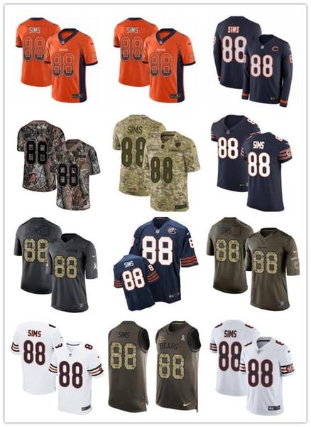 2019 personalizado qualquer núm melhor jersey desgaste Chicago 88 Dion Sims urso homens / mulheres / juventude vermelho ursos McManis Jerseys s-xxxxl