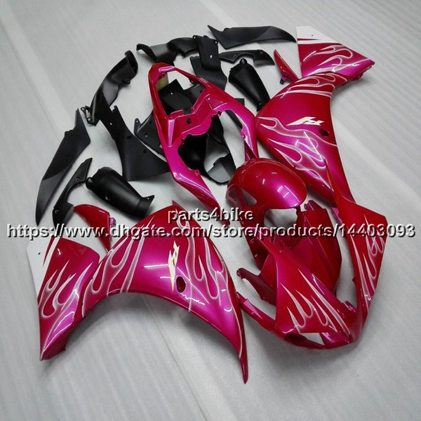 Custom+5Gifts pink motorcycle Fairing For yamaha YZFR1 09 10 11 YZF-R1 2009 2010 2011 ABS Plastic ABS plastic motor Fairing kit