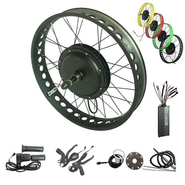 CSC Electric fat tyre bike conversion kit 48V 750W Snow wide tyre bicycle kit 20'' 24'' 26'' 4.0 inch wide ebike conversion Kit