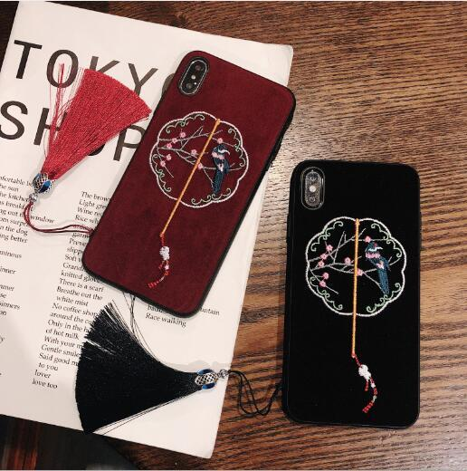 Hot Sale Designer Phone case for IphoneXSMAX IphoneXR XS 7plus/8Plus 7/8 6plus/6sP 6/6s With Animal Embroidery Rear Cover Fashion Phone Case