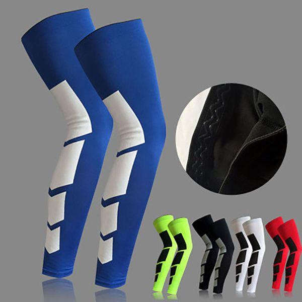 1pcs base layer compression leg sleeve shin guard men women cycling running football basketball sports calf support thumbnail