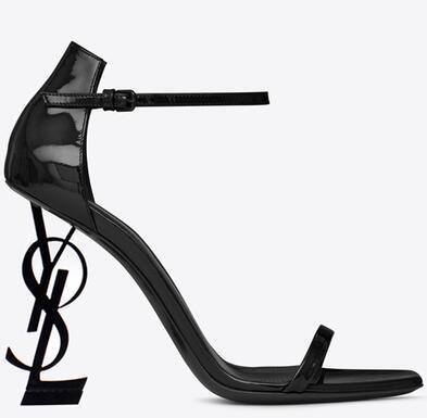 Women Summer Sandals Metal High heel Luxury Sexy cool Fashion Brand Lady Simple dance Banquet nightclub bandage girl Sandals 8cm/10cm heel