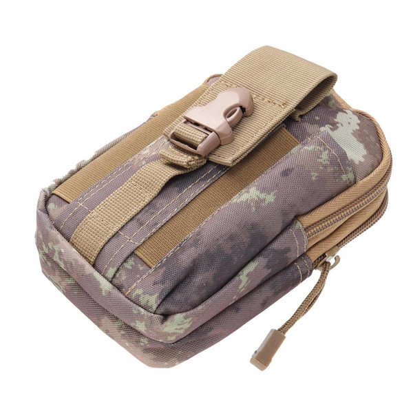 Tactical Waist Pack Hand Carry Camping Belt Bag Rucksack Outdoor Bumbag Phone Bag (Khaki)