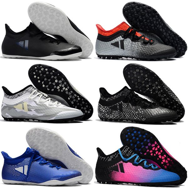 2017 cheap turf soccer cleats X Tango 17.3 IC TF mens soccer shoes indoor authentic football boots original ace 17 Purecontrol Grey