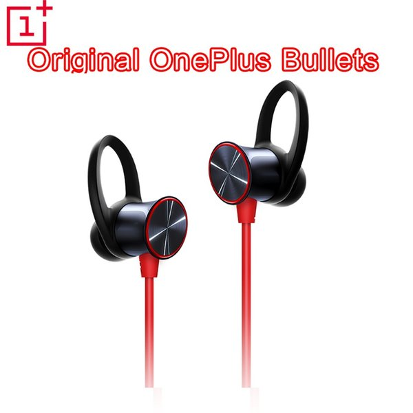 Orijinal OnePlus Mermiler Kablosuz Kulaklık serbest yayını Müzik Manyetik Mikrofon Kontrol Suya Dayanıklı Hızlı Şarj Destek aptXTM Kırmızı