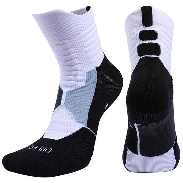 Alta Calidad Nuevos Hombres Deportes Al Aire Libre Élite Baloncesto Calcetín Hombres Calcetines de Ciclismo Calcetines de Compresión Algodón Toalla Inferior calcetines de los hombres