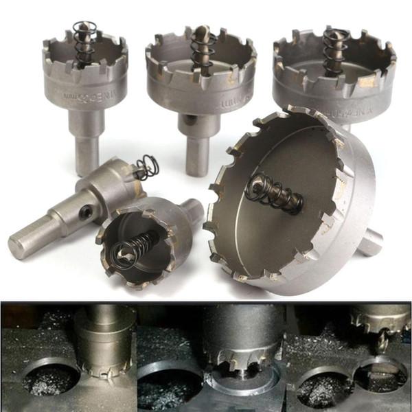 6pcs / set 22 30 35 45 50 65MM carbure Astuce TCT de base Mèche métal Cutter scie Travail des métaux de base Trou d'outils en acier inoxydable en alliage