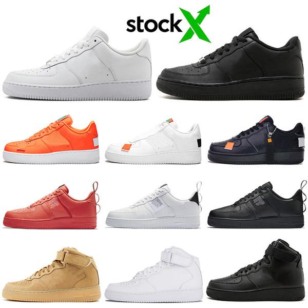 nike air force 1 af1 forces shoes Designer One 1 Dunk Hommes Femmes Flyline Chaussures De Course, Chaussures De Skateboarding Haut Bas Coupe Noir Blanc Blé Baskets Baskets 36-45