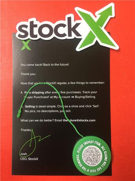En stock X OG Código QR Etiqueta Verde Etiqueta Circular Circular Plástico Hebilla StockX Verificado Auténtico Etiqueta Verde Código OG QR Accesorios de zapatos