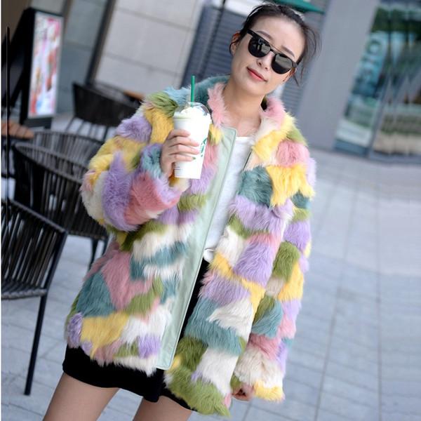 2019 новый натуральный Тоскана меховое пальто женщины Тоскана меховая куртка зима цветное пальто большой размер EMS Бесплатная доставка F1129
