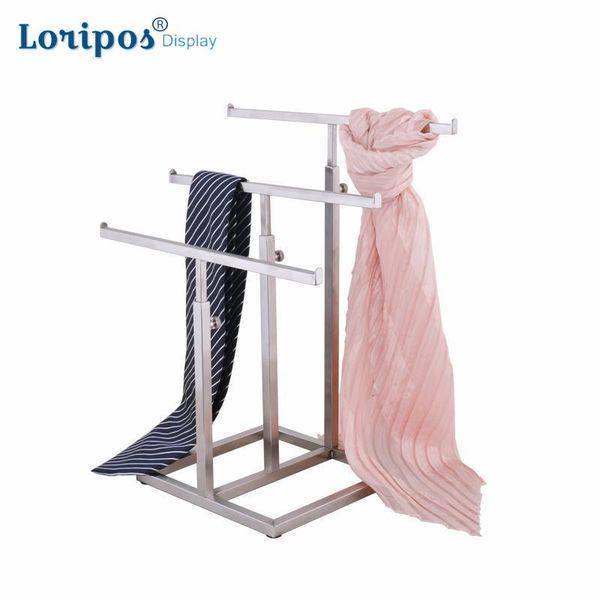 Multifunction High-grade Stainless Steel Silk Scarf Display Rack Wraps Shawl Necktie Tie Purse Handbag Display Stand Holder Rack