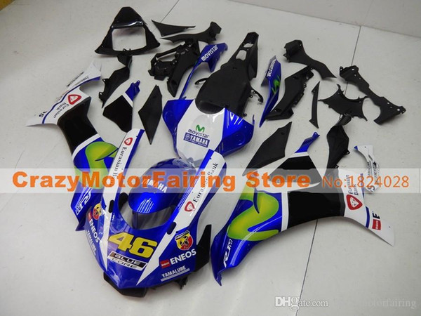 New Injection Mold High quality ABS Motorcycle Fairing Kits 100% Fitment For YAMAHA YZF1000 R1 YZF-R1 2015 2016 15 16 blue black yellow 46