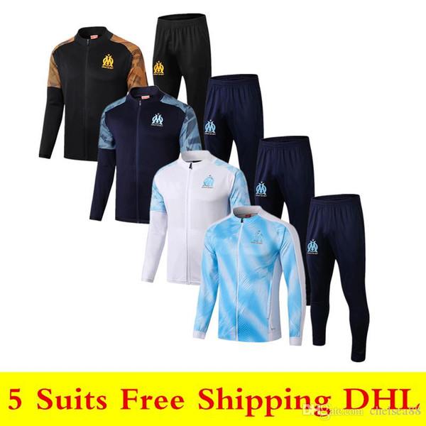19 20 nueva Olympique de Marseille ropa deportiva chaqueta Payet 2019 2020 OM L.GUSTAVO chándal de fútbol THAUVIN de manga larga traje de entrenamiento de la cremallera