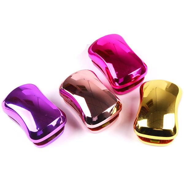 Yeni tasarımcı sabun şeklindeki plastik masaj tarak galvanik 4 renkler 14 * 6 cm duş saç fırçaları saç taraklar detangle saç fırçası stylin