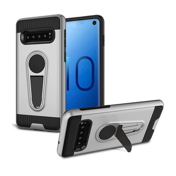 Heavy Duty Magnetic Kickstand cell phone Cases For Samsung Galaxy S10 Plus S10e Iphone XS Max XR LG G7 King Armor Mobile Case