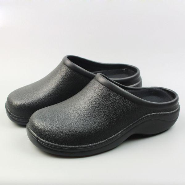nuevo producto 557b2 b2a07 Compre Nuevo Tallas Grandes Zapatos Zuecos De Trabajo Para Mujeres EVA  Negro Jardín Zueco Zueco Sandalias De Trabajo De Cocina Enfermero / Chef ...