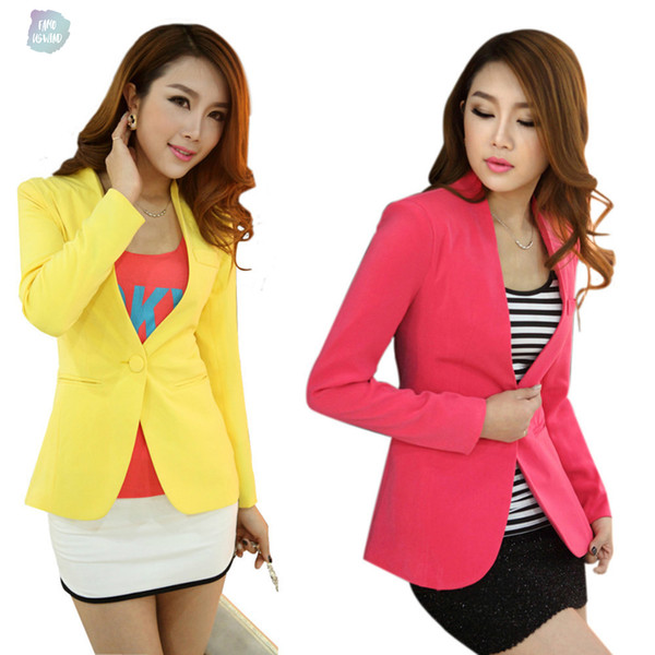 Women New Blazer Spring Slim Top Elegant Double Breasted Short Design Blazer Suit Female Suit Women Work Wear