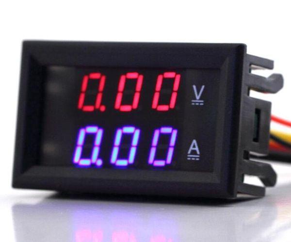 -1pc Red 3.5-30V 0-10A Dual Display Volt Gauge Voltage Meter Digital LED Voltmeter Ammeter Panel current Amp meter Voltimetro