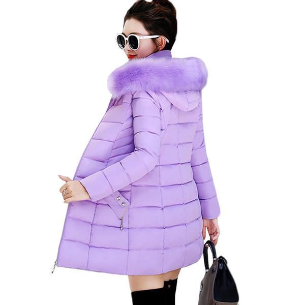 Winter Women Jackets Coats New Down Cotton Hooded Parkas Feminina Warm Outwear Faux Fur Collar Plus Size 3xl Long Coats