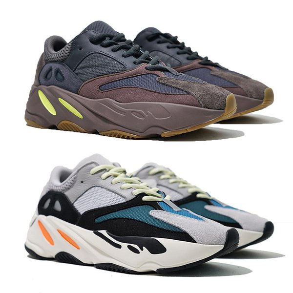 2019 New 700 Mauve Running Shoes Mens Best Quality Wave Runner 700 Kanye West Designer Sneakers Womens 2019 Brand Boots Us5-11.5