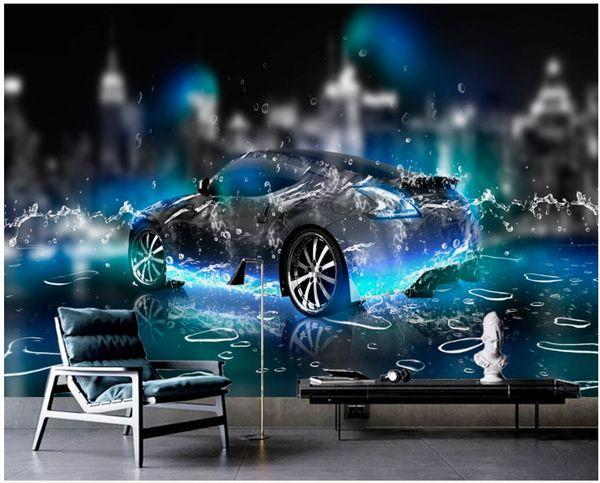 WDBH 3d wallpaper custom photo murals Fantasy underwater sports car background home decor living room 3d wall murals wallpaper for walls 3 d